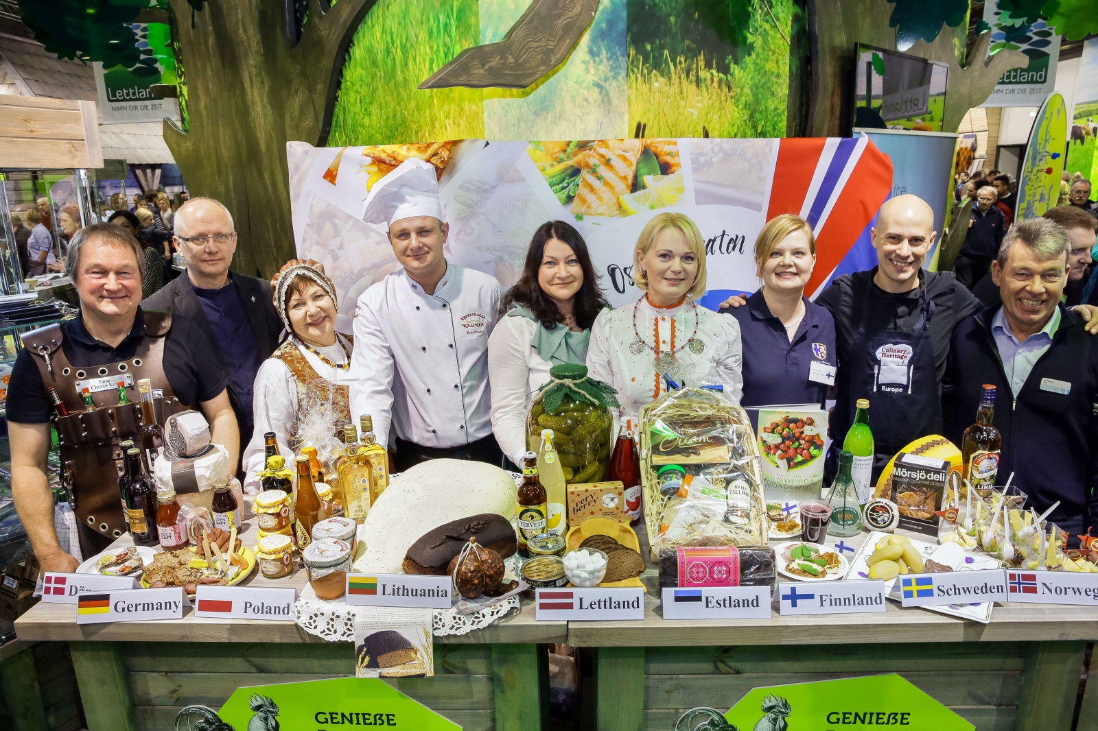 Baltic Sea Culinary Routes first presentation in Grüne Woche, Berlin 2015