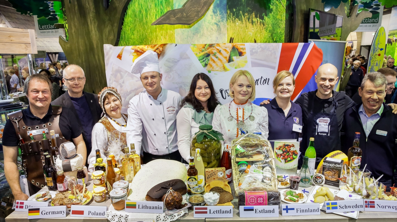 Baltic Sea Culinary Routes first presentation in Grüne Woche 2015, Berlin, Germany